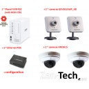 Kit Zen-Tech All-in-One : 4 Caméras IP+Enregistreur+Hub
