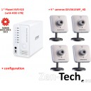 Kit Zen-Tech All-in-One : 4 Caméras Wifi + Enregistreur